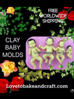 Baby molds, Polymer baby molds, 4 moulds, Free worldwide shipping (1)